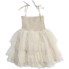 Bardot Junior Forest Fairy Tutu ($30) ❤ liked on Polyvore featuring dresses and natural