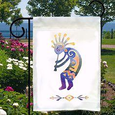 Kokopelli Spirit of Music New Small Garden Flag, Boat, Bar, Home, Native American by SabellasEmporium on Etsy https://www.etsy.com/listing/161764887/kokopelli-spirit-of-music-new-small