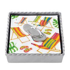 Mariposa Flip Flop Twist Napkin Box