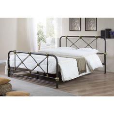 Pia Full Metal Platform Bed Frame Black