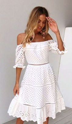 Crochet dress for women boho chic lace tops 32 super Ideas Crochet Dress Outfits, Crochet Summer Dresses, Summer Dresses For Women, Crochet Clothes, Girly Outfits, Fall Outfits, Casual Dresses, Fashion Dresses, Maxi Dresses