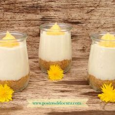 Ideas que mejoran tu vida Lemon Curd, Frozen Treats, Cheesecakes, Glass Of Milk, Panna Cotta, Cooking Recipes, Pudding, Ethnic Recipes, Desserts