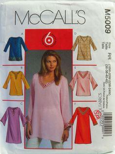 McCall's 5009 Women's/Women's Petite Tunics Sewing Pattern