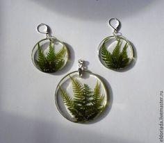 Complete sets of handmade jewelry. Witch's Charm (set, fern, epoxy resin). Eldoriada. Online Store Fair Masters. Fern