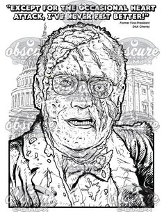 Digital Zombie Coloring Page