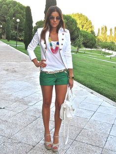 Definitely getting some green shorts before the trip...can I get those legs too please? :)