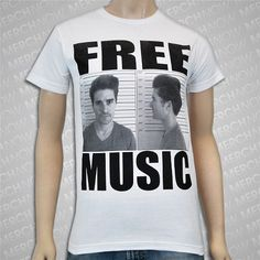 Greek Fire  Free Music White T
