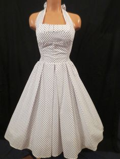 UNIQUE VINTAGE Retro Halter Dress - $29.99 at JOHNNY BOMBSHELL #retro #swing #polkadot #rockabilly #pinup #VLV