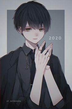 Dark Anime Guys, Cute Anime Guys, Anime Boys, Cute Anime Character, Character Art, Kawaii Anime, Espada Anime, Anime Black Hair, Anime Drawing Styles