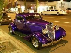 PURPLE OLDTIMER CAT #by www.facebook.com -- purplemything