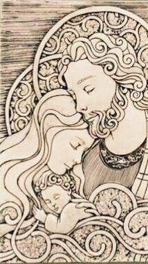 Navidad coloring page Catholic Art, Catholic Saints, Religious Art, Blessed Mother Mary, Holy Mary, Jesus Pictures, Holy Family, Christmas Nativity, Sacred Art