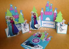 Swatches & Hues : Handmade with TLC: Frozen theme gate fold invitation for a 7th birthday party