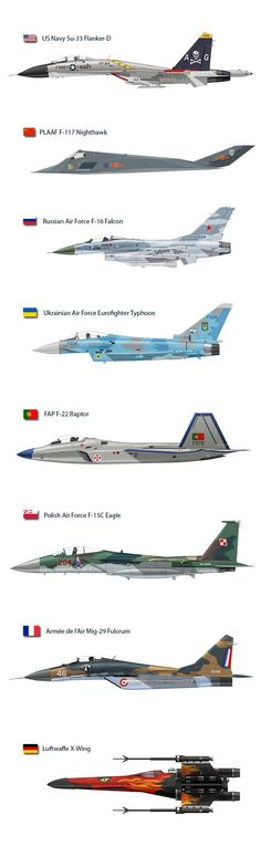 Fighters in alternate service and colors