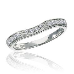 Explore examples of our curved diamond wedding bands. They're perfect if the center stone of an engagement ring sticks out, to eliminate a ring/band gap. Curved Wedding Band, Diamond Wedding Bands, Band Rings, Diamonds, Engagement Rings, Rock, Stone, Bracelets