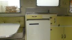 Original interior, 1963 Valiant  Australian Vintage Caravan