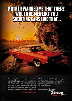 """The Pixeleye Fever - 1969 Dodge Coronet Super Bee""  DIN A2 Poster, 250g, 100 copies only"