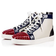 3e7d5ae0b2e7 CHRISTIAN LOUBOUTIN Lou Spikes Patent Calf Caviar Multicolor Calfskin - Men  Shoes - Christian Louboutin