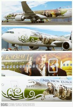 The Hobbit themed Air New Zealand Boeing 777-300 airplane