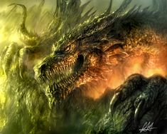 A Dragon Awakens... by ~chrisscalf on deviantART