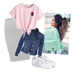 """""""casual"""" by yesica-cruz on Polyvore featuring McQ by Alexander McQueen, adidas Originals, Converse and WithChic"""