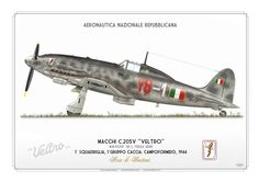 "Macchi (also known as ""MC"" standing for ""Macchi Castoldi"") Veltro (Italian: Greyhound) Air Force Aircraft, Ww2 Aircraft, Fighter Aircraft, Military Aircraft, Fighter Jets, Italian Air Force, Italian Army, War Thunder, Ww2 Planes"