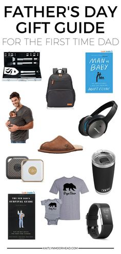 Father's Day Gift Guide for the First Time Dad #fathersday #fathersdaygiftguide #dadgifts #giftsfordadfrombaby #firsttimedad #firstfathersday