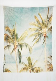 Isle Dream of View Tapestry. Hang this tapestry above your bed and fill your dreams with visions of a tropical paradise! #multi #modcloth