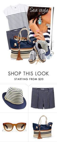 """""""Coast Boat Tote"""" by tasha1973 ❤ liked on Polyvore featuring MANGO and J.Crew"""