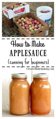 How to Can Homemade Applesauce How to Can Homemade Applesauce Canning applesauce. Easy recipe for making homemade applesauce. How to make and can homemade applesauce from apples picked straight from the tree. Pressure Canning Recipes, Home Canning Recipes, Cooking Recipes, Cooking Hacks, Pressure Cooking, Crockpot Recipes, Applesauce Recipes Canning, Apple Sauce Canning, Homemade Applesauce Crockpot