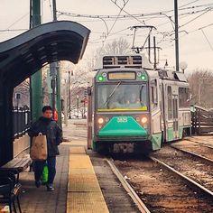 MBTA Cleveland Circle Station in Boston, MA