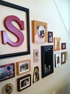 How To Hang A Picture & Gallery Wall Ideas - get creative with your gallery wall. Consider frames, colors and dimensionality. Click on the photo for instructions on how to hang a gallery wall. #walldecor #photos