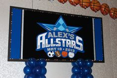 Sports Themed Backdrop with Lights