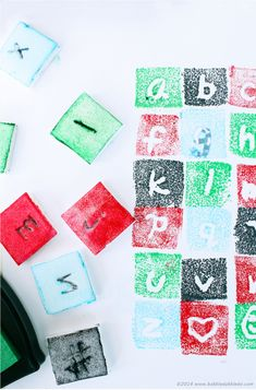 Design for Kids  | A mini lesson in graphic design, then create your own font and make a stamp with recycled styrofoam!