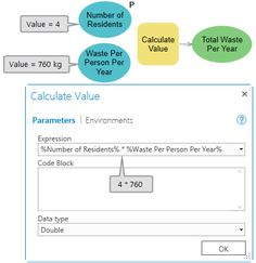Using model variable in Calculate Value tool