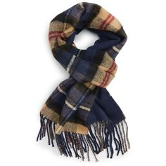 Topman Double Face Plaid Scarf ($13) ❤ liked on Polyvore featuring mens, men's accessories and men's scarves