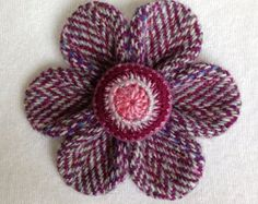 make flowers harris tweed - Google Search