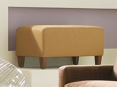 living room ottoman, leather ottoman, tan living room furniture