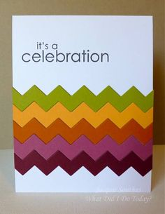 Rainbow Chevron Celebration by Jacquie J - Cards and Paper Crafts at Splitcoaststampers