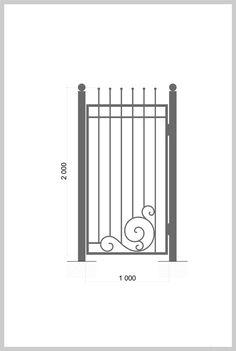 #Калитка / #Wrought_Iron_Doors #gate  Артикул: k_02 Ширина, мм: 1000 Высота, мм…