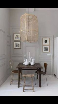 Looking for small dining room ideas? Tons of dining room inspiring Ideas! Find the most suitable design and improve your home's decoration! Sweet Home, Small Apartment Living, French Apartment, Luminaire Design, Small Dining, Dining Room Design, Dining Rooms, Dining Area, Dining Table