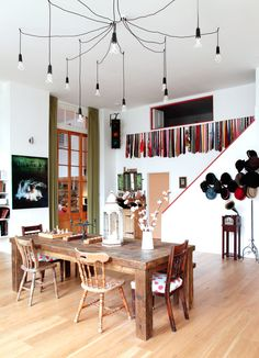 Farm rustic decor dining room eclectic with hat storage natural lighting draped pendant lights open-plan apartment