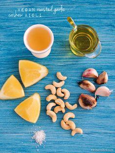 Vegan Roasted Garlic Cashew Aioli