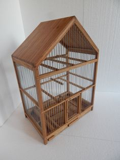 Handmade Wooden Birdcage by birdworld77 on Etsy