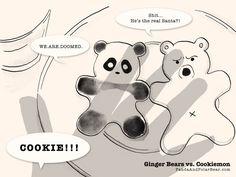 Ginger Bears vs. Cookiemon | Panda and Polar Bear