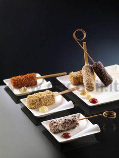 Stampi per decorazione Sticktartare di carne o di pesce impanati Stampo acquistabile online su www.decosil.it #fingerfood