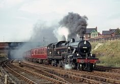 Fowler 2-6-4T 42409 passes Neville Hill as it leaves Leeds with the RCTS 'Nidd Valley' railtour, 19/10/63.