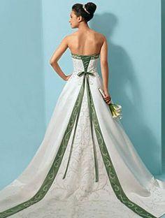 celtic wedding ideas | An Irish Wedding Dress! Lovely & different!... | Wedding Ideas