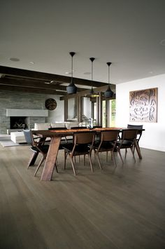 Like the color of the hardwoods - Woodvalley Residence - contemporary - dining room - vancouver - Gaile Guevara