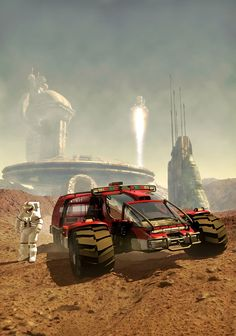 Terraforming Mars, art by Luca Oleastri - www.innovari.it #scifi #illustrator