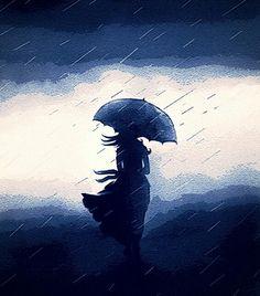 .black umbrella